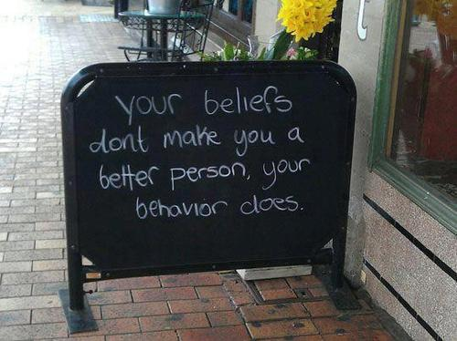 Beliefs and behaviour