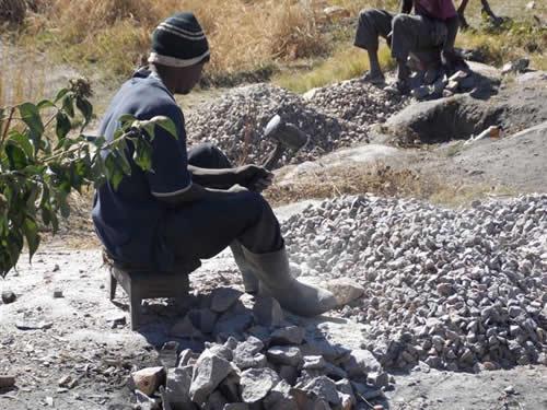Stone crushing