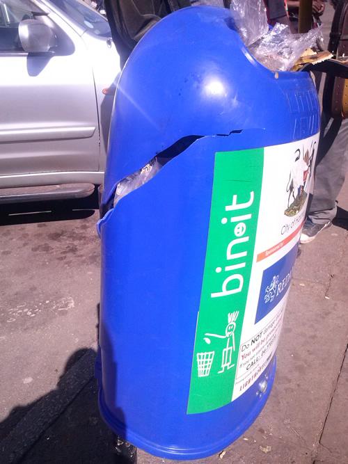 vandalised bin-1