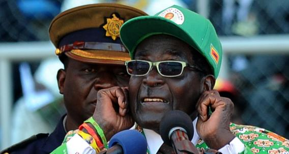 Mugabe at July 2013 Campaign Rally - Photo by ALEXANDER JOE/AFP/Getty Images